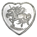1/4 oz Silver Heart - For Someone Special - Unicorn - .999