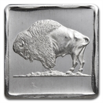 1/4 oz Silver Square - Buffalo Nickel Rev. Portrait - .999 Fine