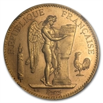France 1913 100 Franc Gold Angel    NGC MS-61