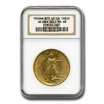 1908 $20 St. Gaudens Gold - No Motto - MS-68 NGC (Wells Fargo)