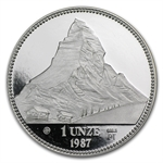 1987 1 oz Swiss Platinum Matterhorn (Proof)