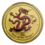 2012 1/4oz Colored Proof Gold Year of the Dragon (SII) PCGS PR-70