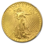 1908-D $20 St. Gaudens Gold - With Motto - MS-63 NGC