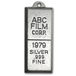 27 Gram ABC Film Corporation - 1979 Silver Bar .999 Fine