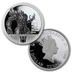 2009 1 oz Proof Silver Megatron- 1st & 2nd Transformers Series