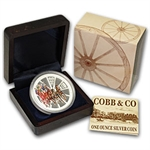 2004 1 oz Proof Silver Cobb & Co 150th Anniversary 1854-2004