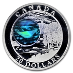2005 1 oz Silver Canadian $20 Diamonds Hologram NGC PF-69 UCAM