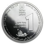 2012 Israel Daniel in the Lion's Den Proof-Like Silver 1 NIS Coin