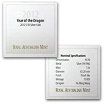 Royal Australian 2012 Year of the Dragon 5 oz Silver Proof-like