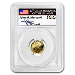 1991-P 1/10 oz Proof Gold American Eagle PR-70 PCGS John Mercanti