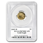 2005-W 1/10 oz Proof Gold American Eagle PR-70 PCGS John Mercanti