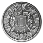 1987 1 oz Swiss Platinum Shooting Thaler (Proof)