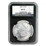 1878-1904 Morgan Dollars - MS-62 NGC Black Holder - 25th Ann