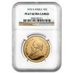 1976 1 oz Gold South African Krugerrand NGC PF-67 Ultra Cameo