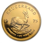 1975 1 oz Gold South African Krugerrand NGC PF-68 Ultra Cameo