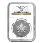2012 1 oz Silver Canadian Maple Leaf Titanic Privy SP-68 NGC