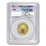 2003 1/4 oz Gold American Eagle MS-69 PCGS Tommy Franks
