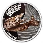 2010 1/2oz Proof Silver Moray Eel - Sea Life I - PCGS PR-69 DCAM