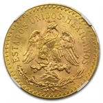 Mexico 1923 50 Pesos Gold Coin MS-63 NGC