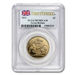 Great Britain 2011 2 Pound Gold PCGS PR-70 DCAM - First Strike