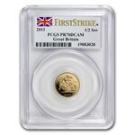 Great Britain 2011 Gold 1/2 Sovereign PCGS PR-70DC 1st Strike