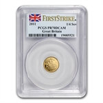 Great Britain 2011 Gold 1/4 Sovereign PCGS PR-70DC First Strike