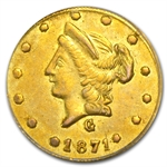 1871 BG-1026 Liberty Round 50 Cent Gold AU-55 PCGS