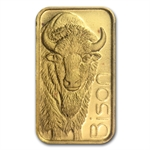 1/10 oz Gold Bar Bison (In Assay)