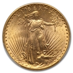 1915-S $20 St. Gaudens Gold Double Eagle - MS-65+ PCGS