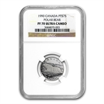 1990 1/4 oz Canadian Platinum Polar bear (PF-70 UCAM NGC)