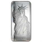 10 oz Johnson Matthey Silver Bar (Statue of Liberty / MTB)
