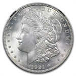 1921 Morgan Dollar - MS-65 NGC Black Holder - 25th Anniversary