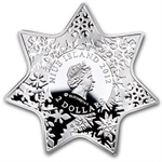 Niue 2012 Proof Silver $2 Christmas Star with Swarovski Crystal