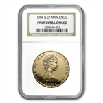 Isle of Man 1 oz Gold Angel PR-69 Cameo NGC/PCGS - Random Year