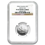 2004 4 Coin Canadian Silver Proof Set  - Arctic Fox NGC PF UCAM