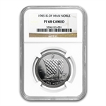1985 1 oz Isle of Man Platinum Noble (PF-68 CAM NGC)