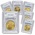 $20 Gold Liberty Double Eagle - (PRE - 1900) - MS-63 PCGS