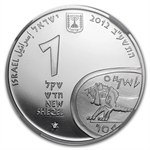 2012 Israel Tel Megiddo Proof-Like Silver 1 NIS Coin MS-70 NGC
