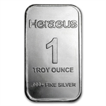 1 oz Heraeus Silver Bar (Secondary Market) .999 Fine