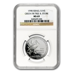 1998 Israel Stork & the Fir Tree 1 NIS MS-69 NGC