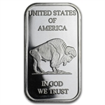 1 oz Buffalo/American Indian Silver Bar .999 Fine