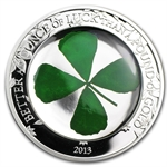 Palau 2013 $5 Proof Silver Four-Leaf Clover - Ounce of Luck