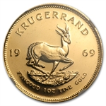 1969 1 oz Gold South African Krugerrand NGC MS64