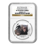 2013 1 oz Proof Silver Tasmanian Devil - NGC PF-70 UCAM