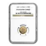 2001 1/10 oz Gold South African Krugerrand NGC PF-69 UCAM