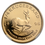 1998 1/4 oz Gold South African Krugerrand NGC PF-69UC