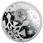 2012 1 oz Proof Silver Christmas Locket Coin