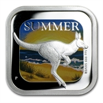 2013 1 oz Proof Silver Summer - Australian Seasons