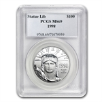 1998 1 oz Platinum American Eagle MS-69 PCGS