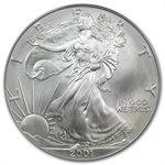 2001 Silver American Eagle - Gem BU PCGS - 1 of 1440 - WTC